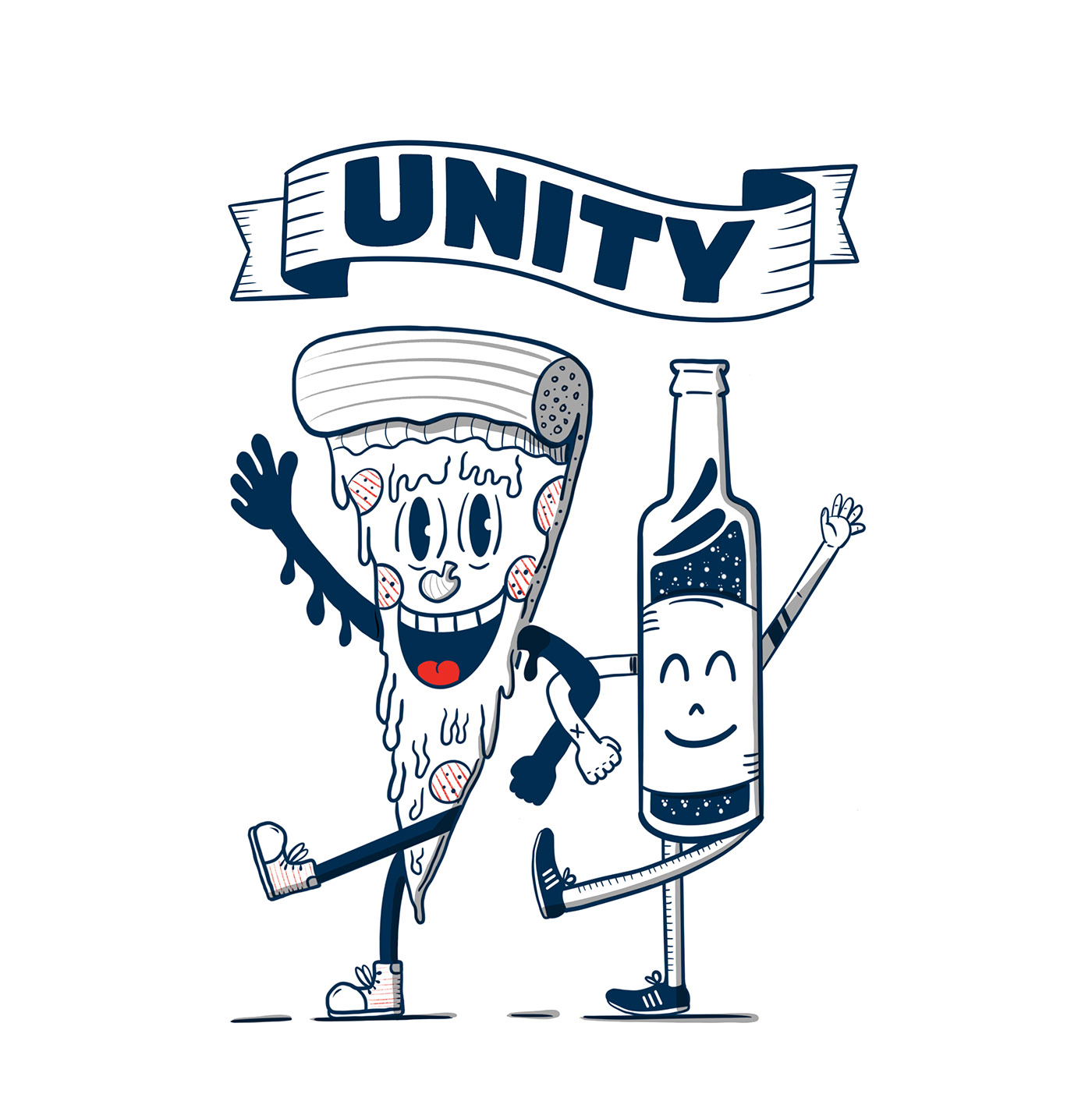 beer cerveza friends Pizza unity