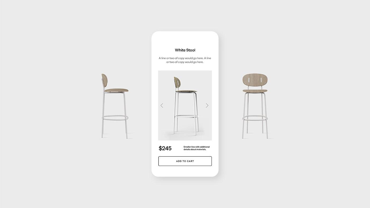 Stool page - Room website