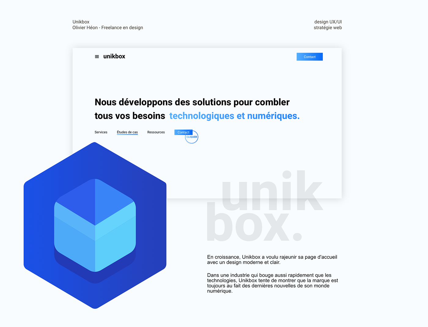 design Interface Utilisateur UI ux Web