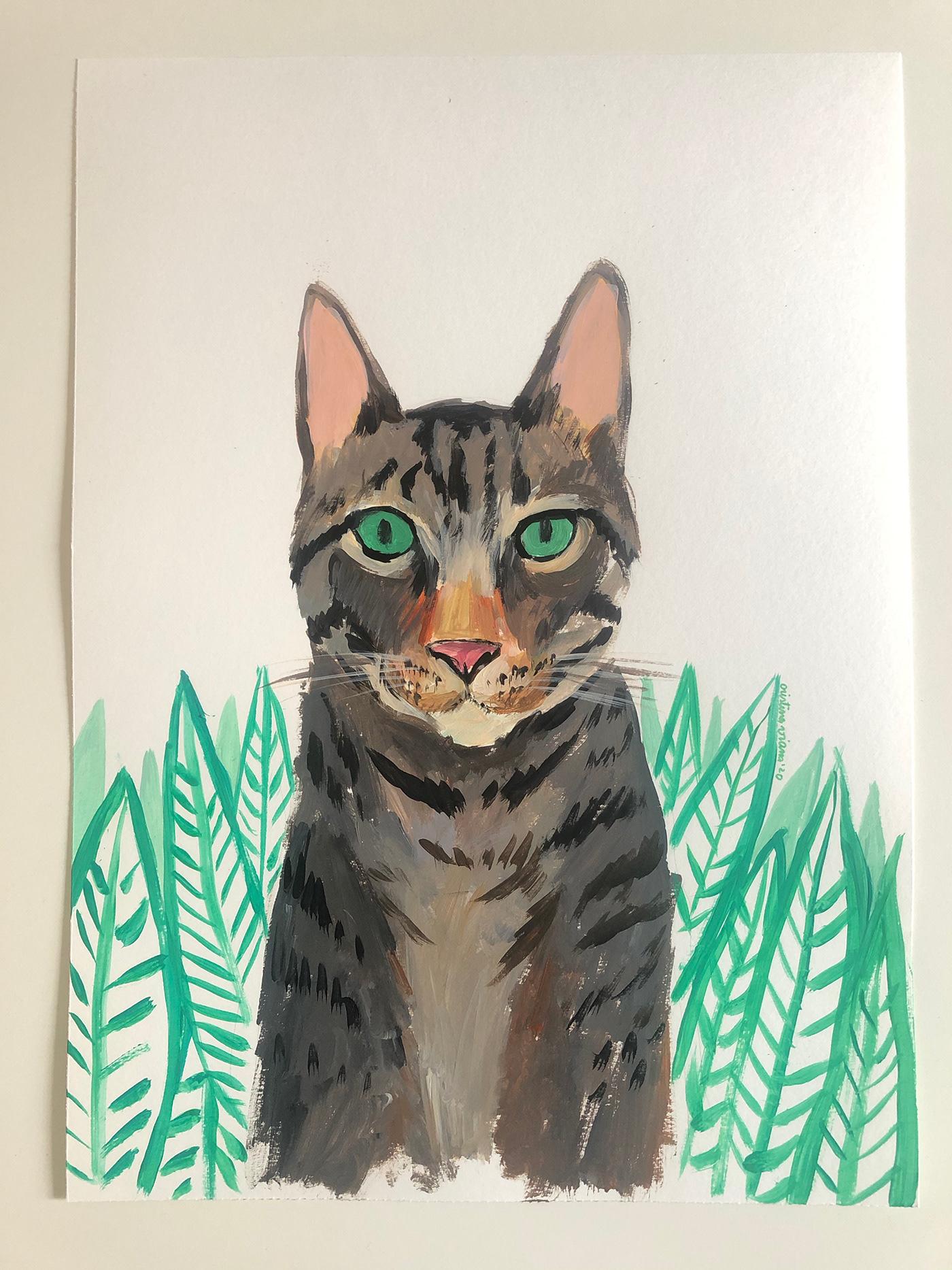 Image may contain: drawing, carnivore and animal