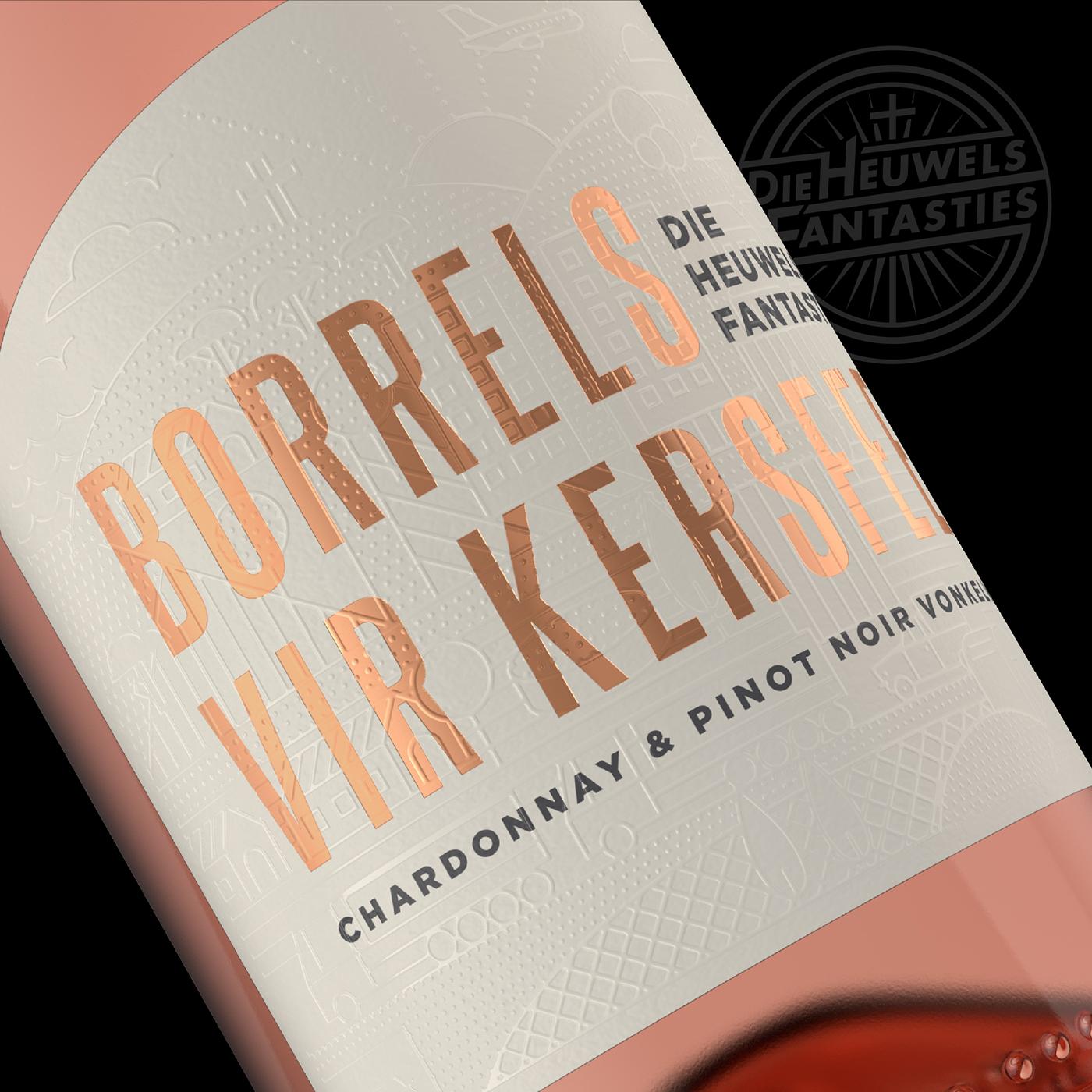 mcc Vonkel sparkling Champagne bottle wine cork highbuild spot-varnish ROSE-GOLD