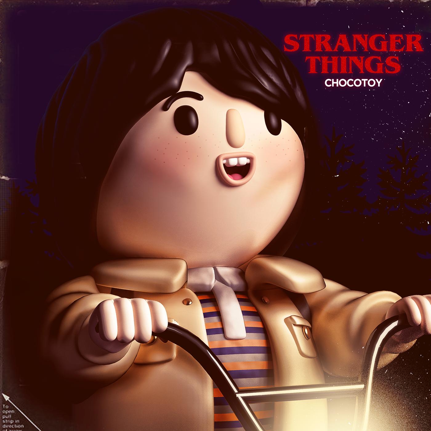 Love stranger things choctoy cute dustin Scifi Scien Cinema strangerthins