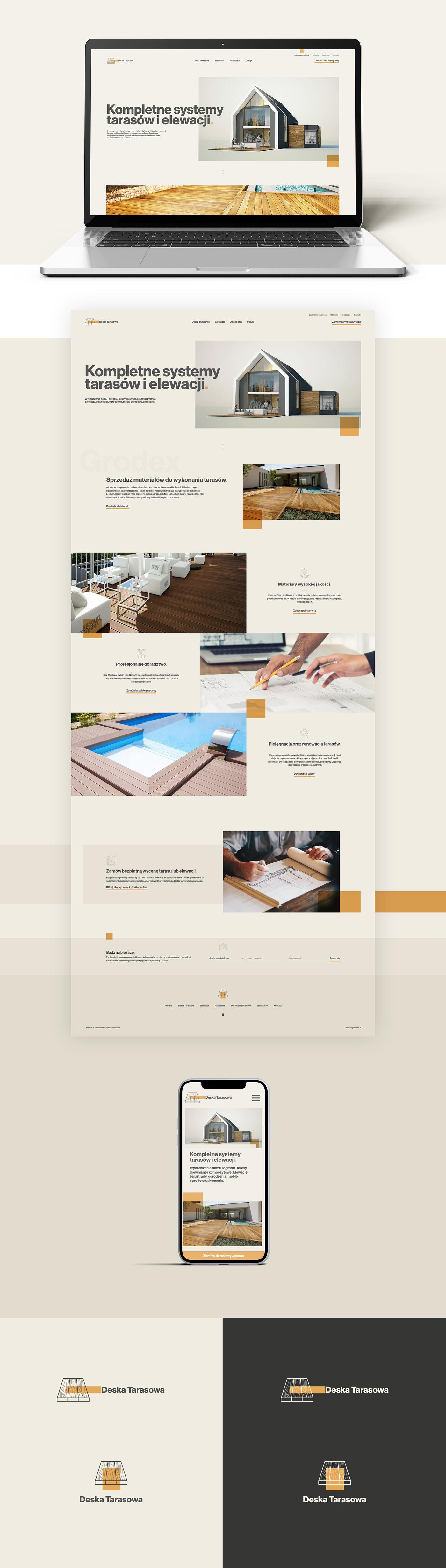 design home UI ui design Web Design  wood tarasy Website Design wordpress