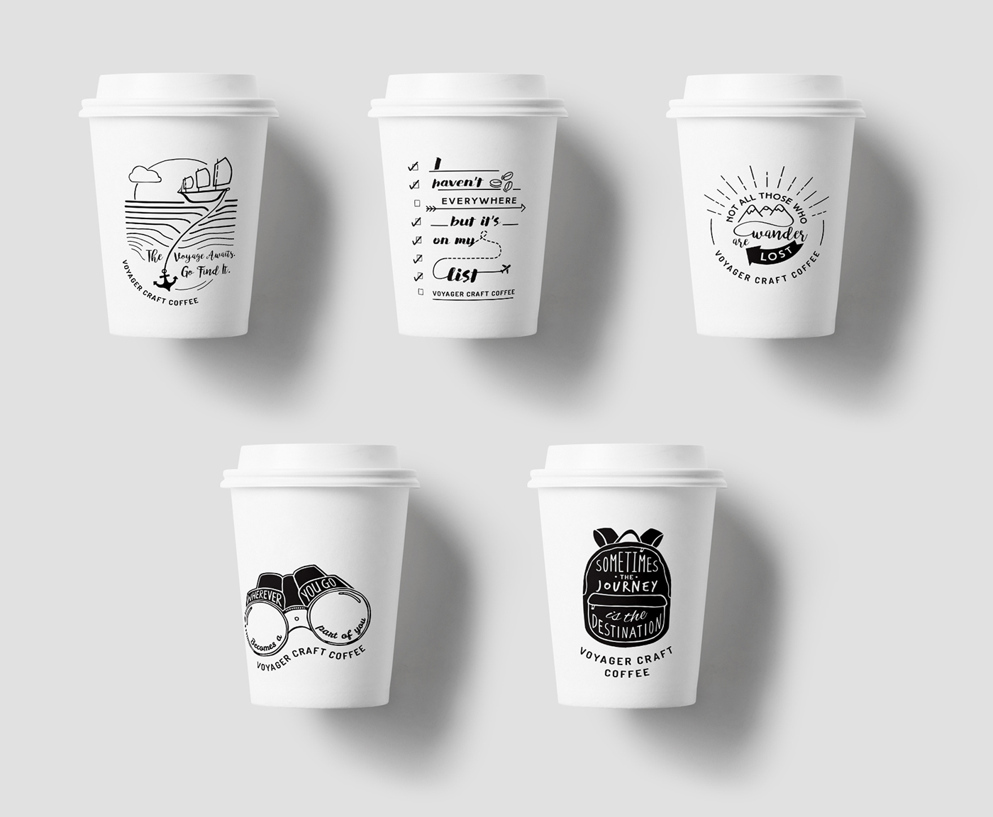 Voyager Craft Coffee Menu Cup Design On Behance