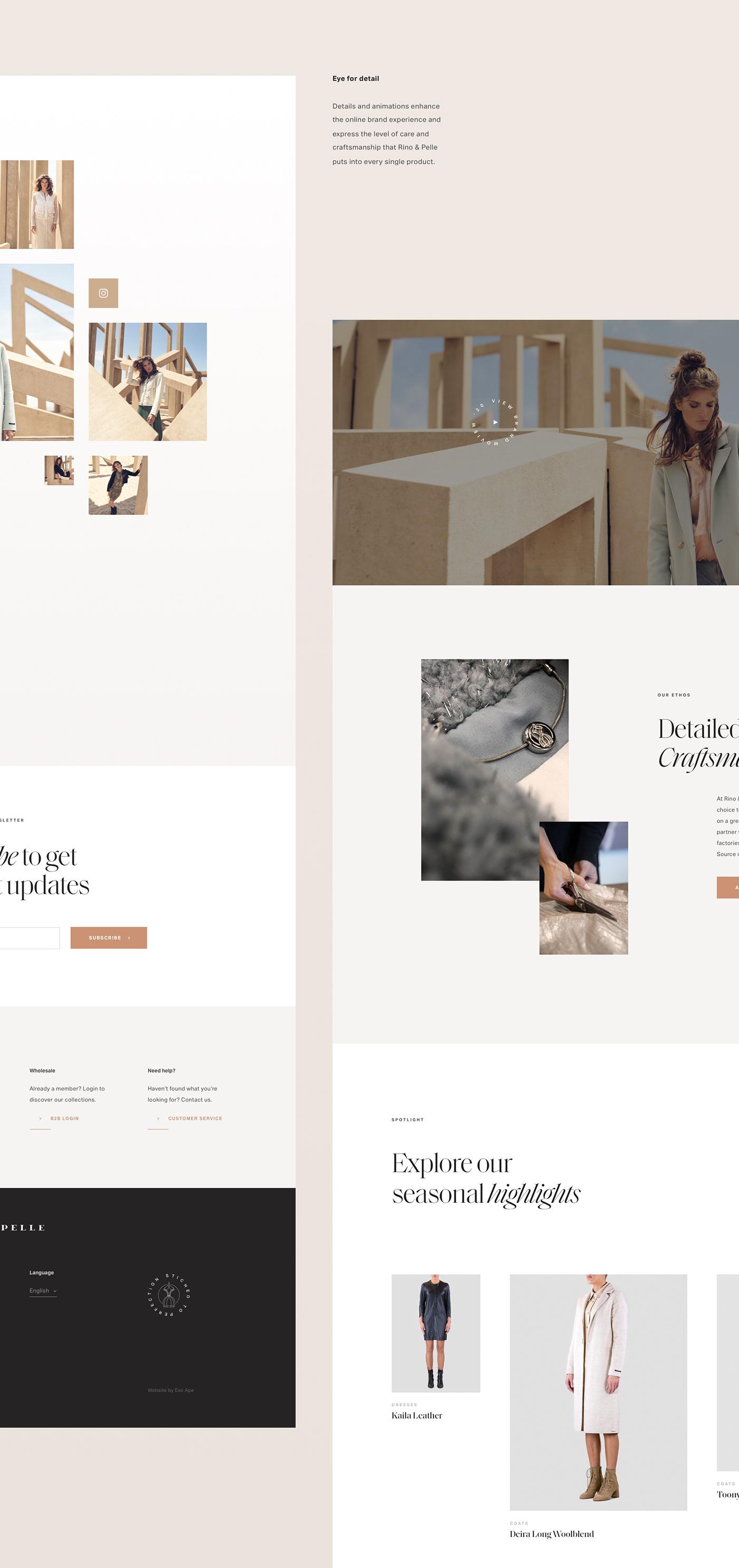 website design for women's fashion brand