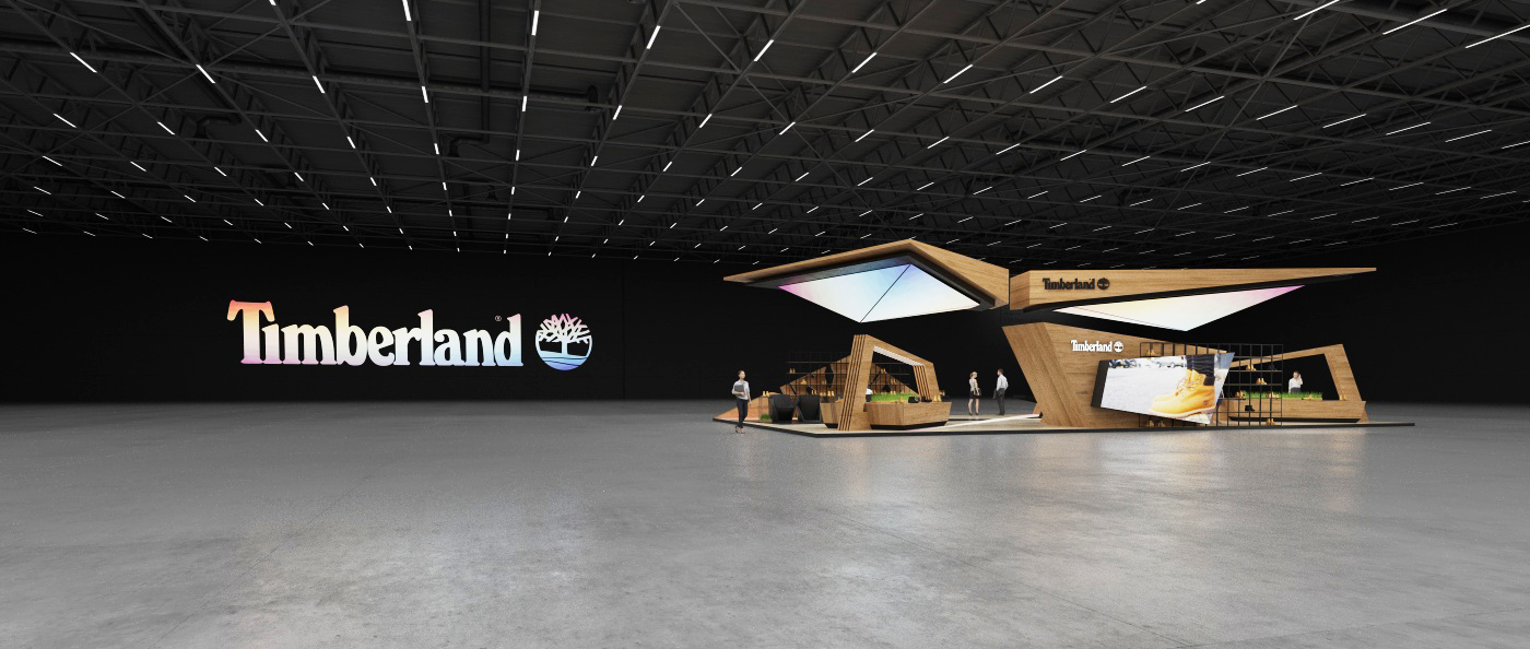 Modern Expo Standsay : Timberland exhibition stand on behance