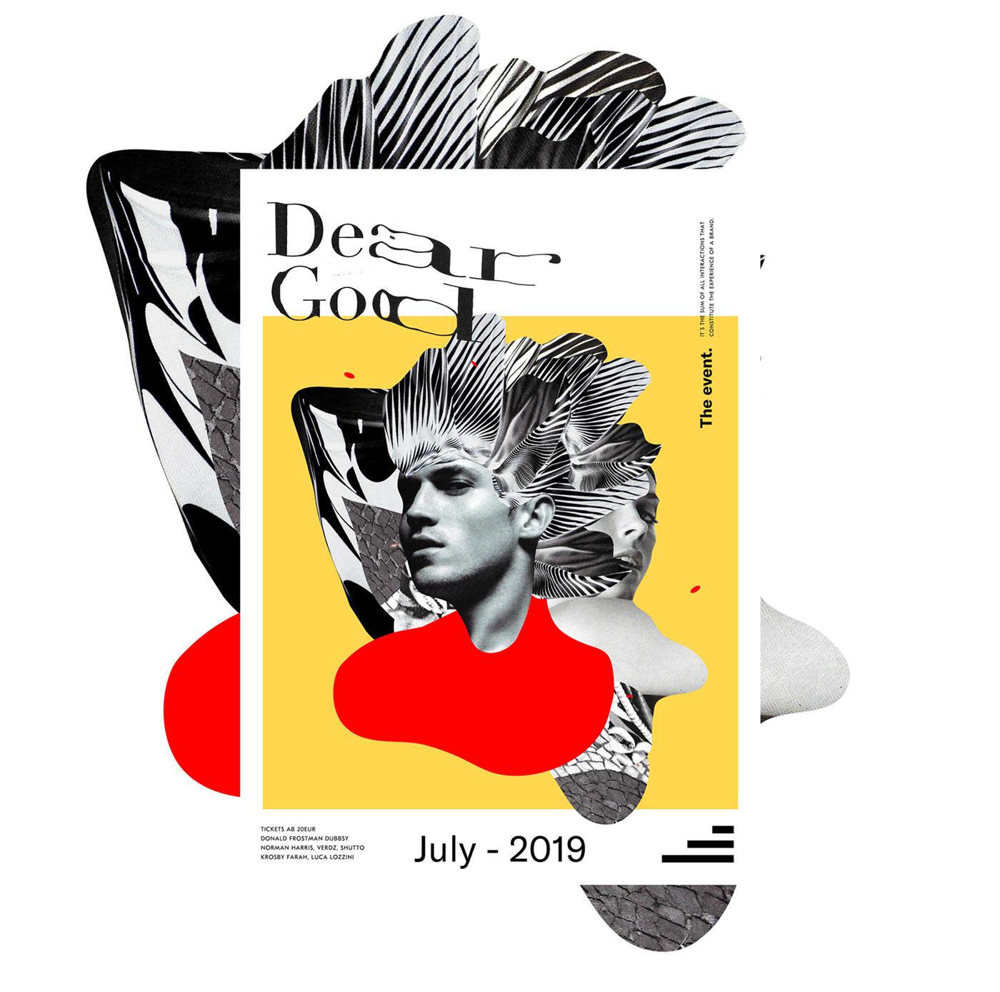 music Event brand dj collage design