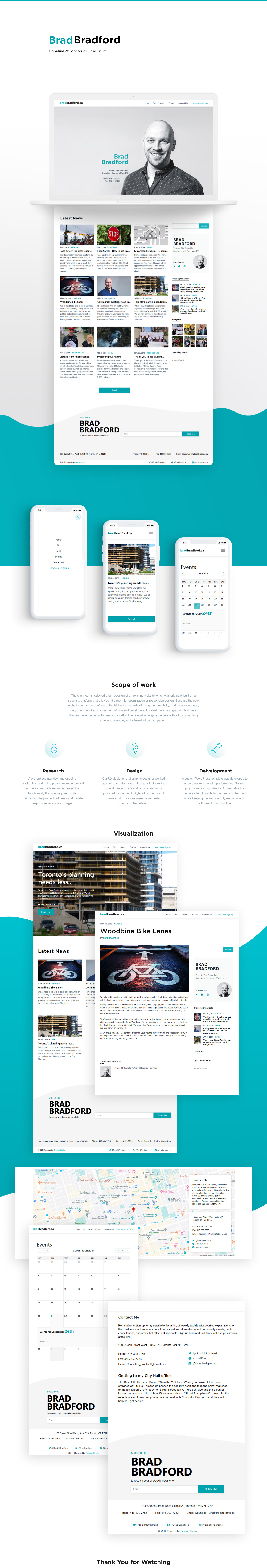 Website UI ux design individual Blog calendar Adaptive