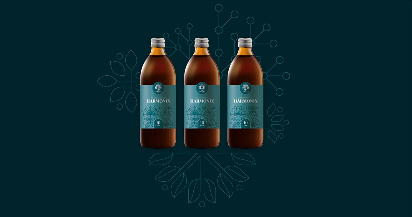 brandglow design herbal herbs identity key visual logodesign natural product label visual