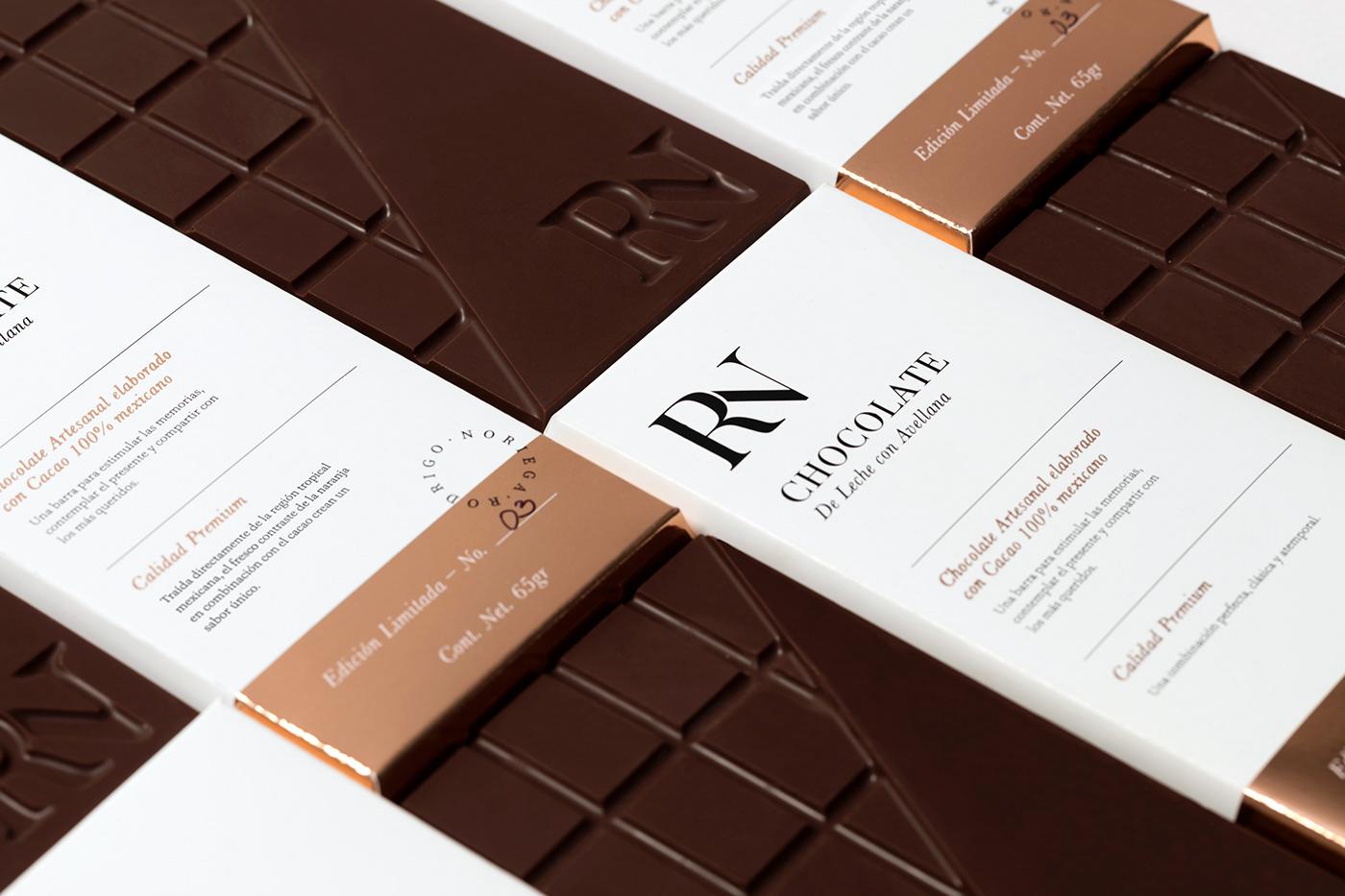 chocolate foil ArtDirection monogram Food  branding  brand mexico luxury minimal