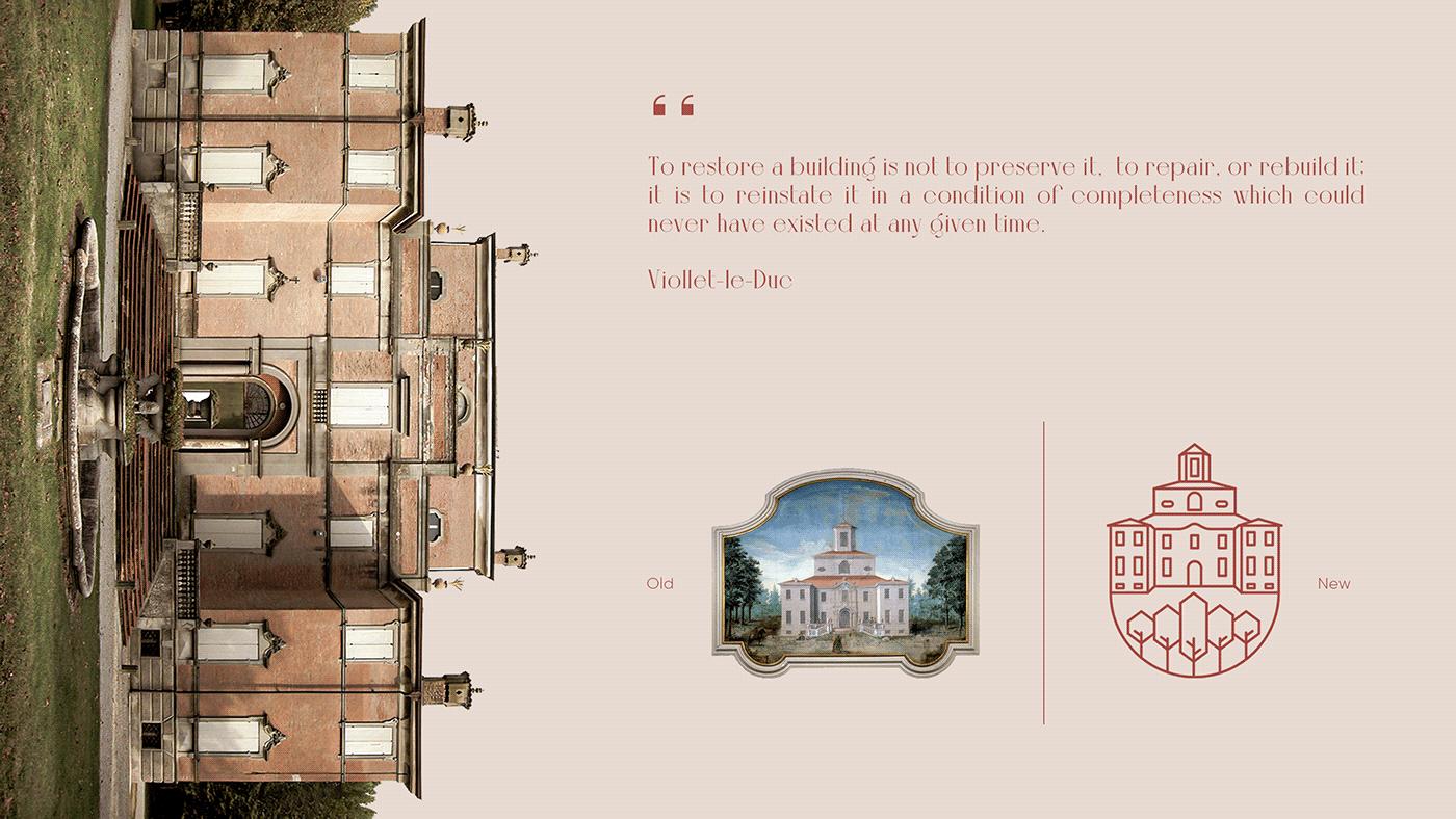 academy architecture cultural Italy logo luxury mousa sorra Villa wine