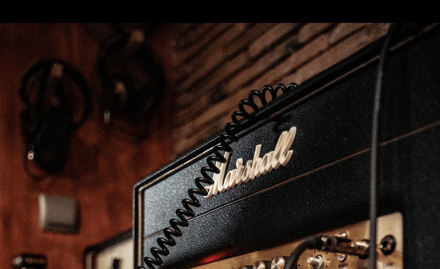 Amp concept grid helvetica history interaction legend Marshall minimal music