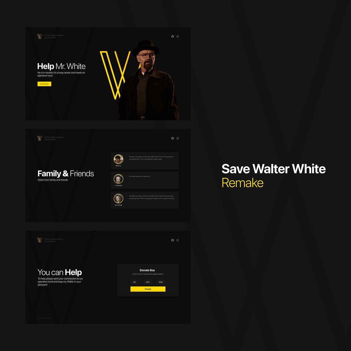 Save Walter White Redesign Remake UI
