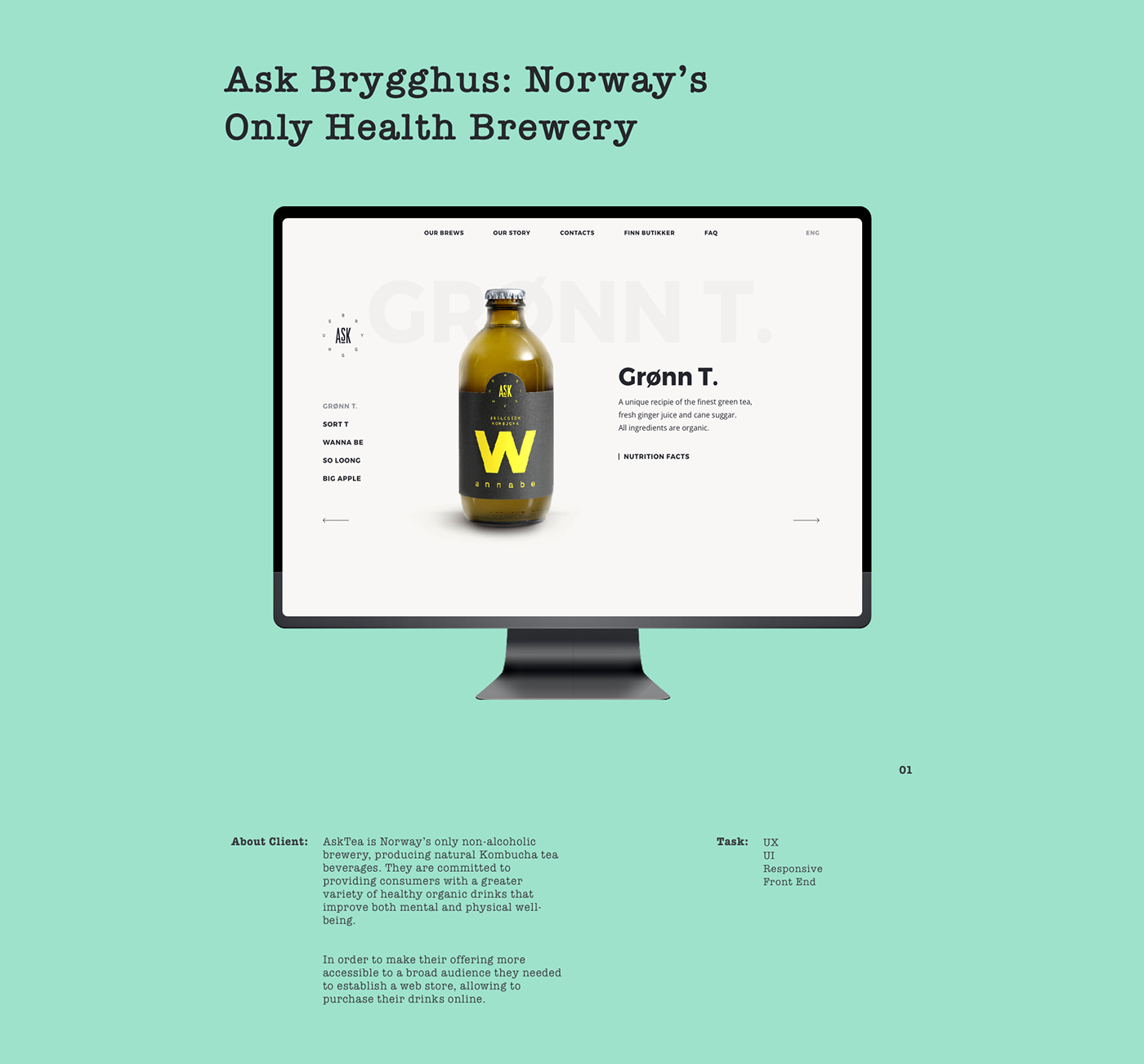 E-commerce Design for Norway's Brewery on Behance