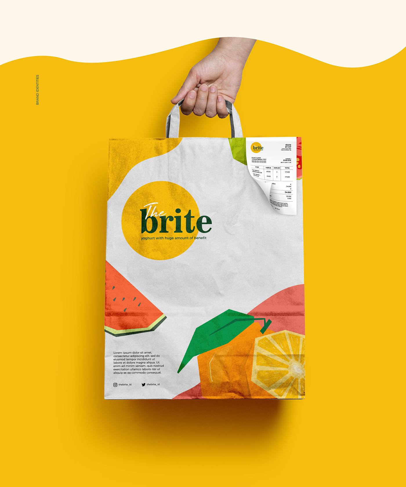 branding  design graphic Packaging cute Fruit milk product summer yoghurt