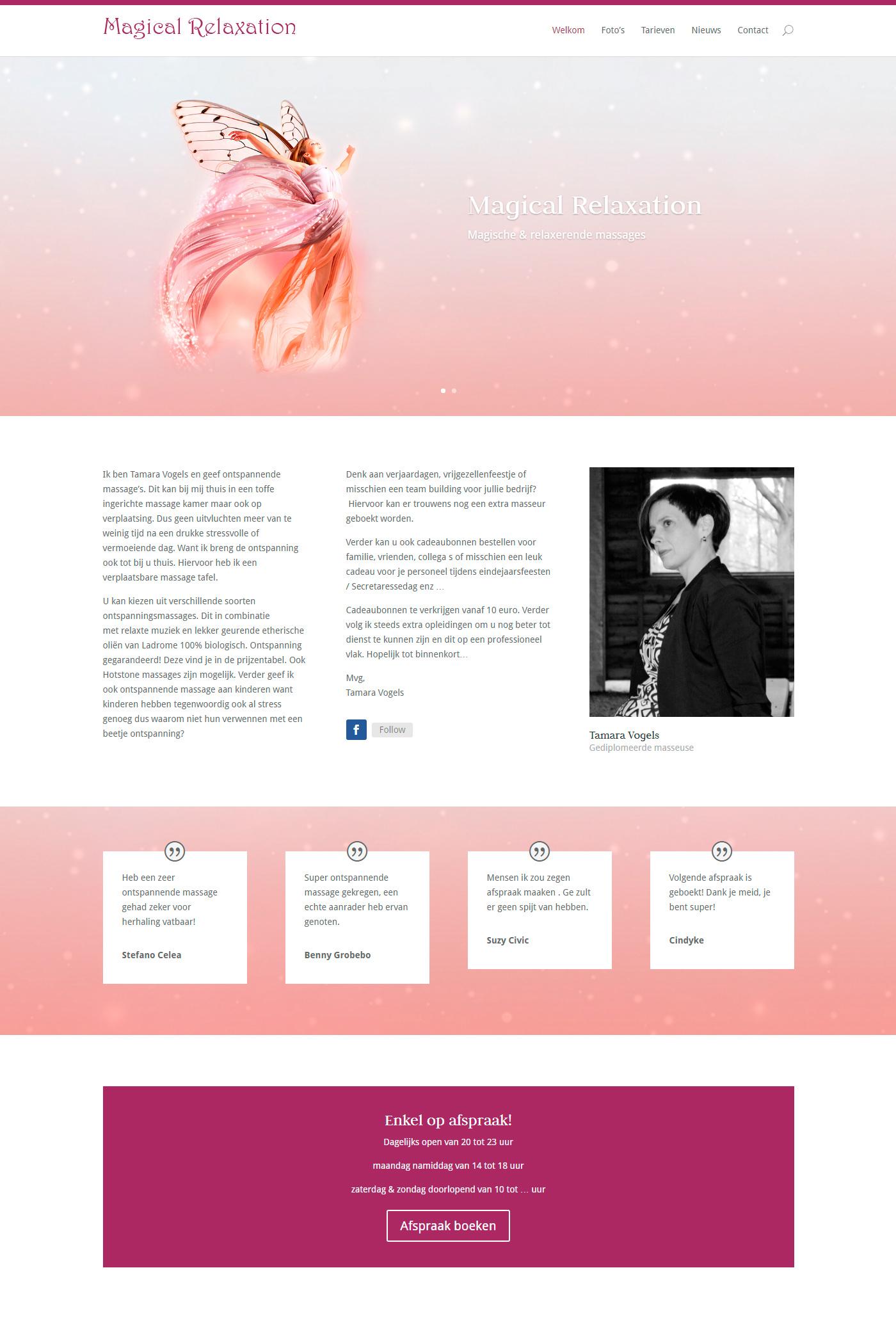 elf Tamara Vogels wordpress Webdesign