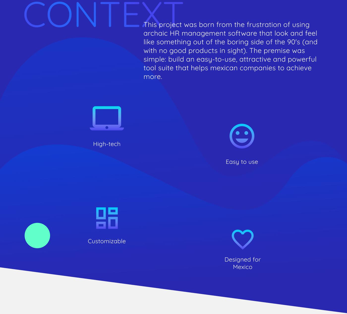 HR management Space  futuristic mexico corporate cloud