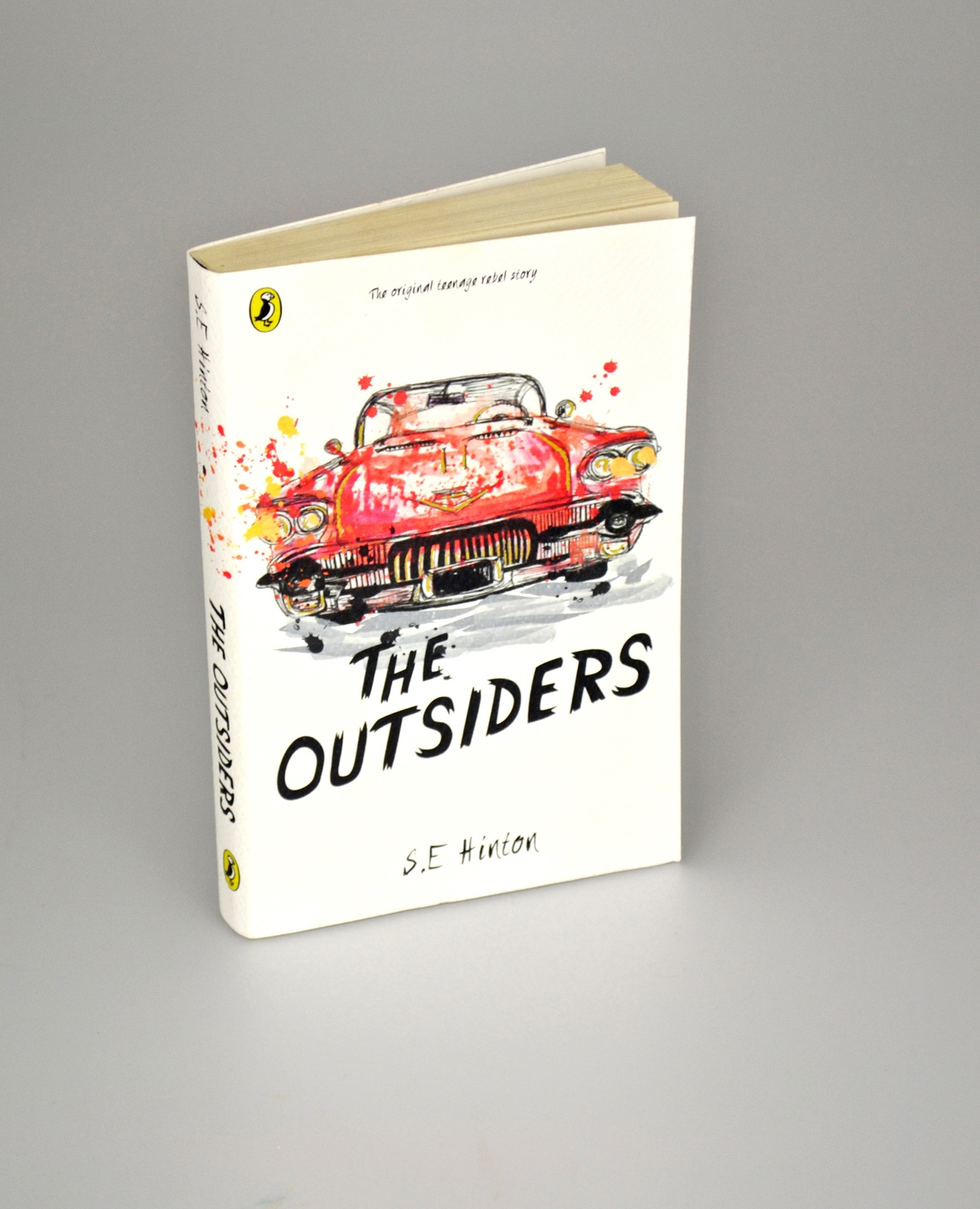 Book Covers Using Typography : Puffin design awards the outsiders book cover on behance