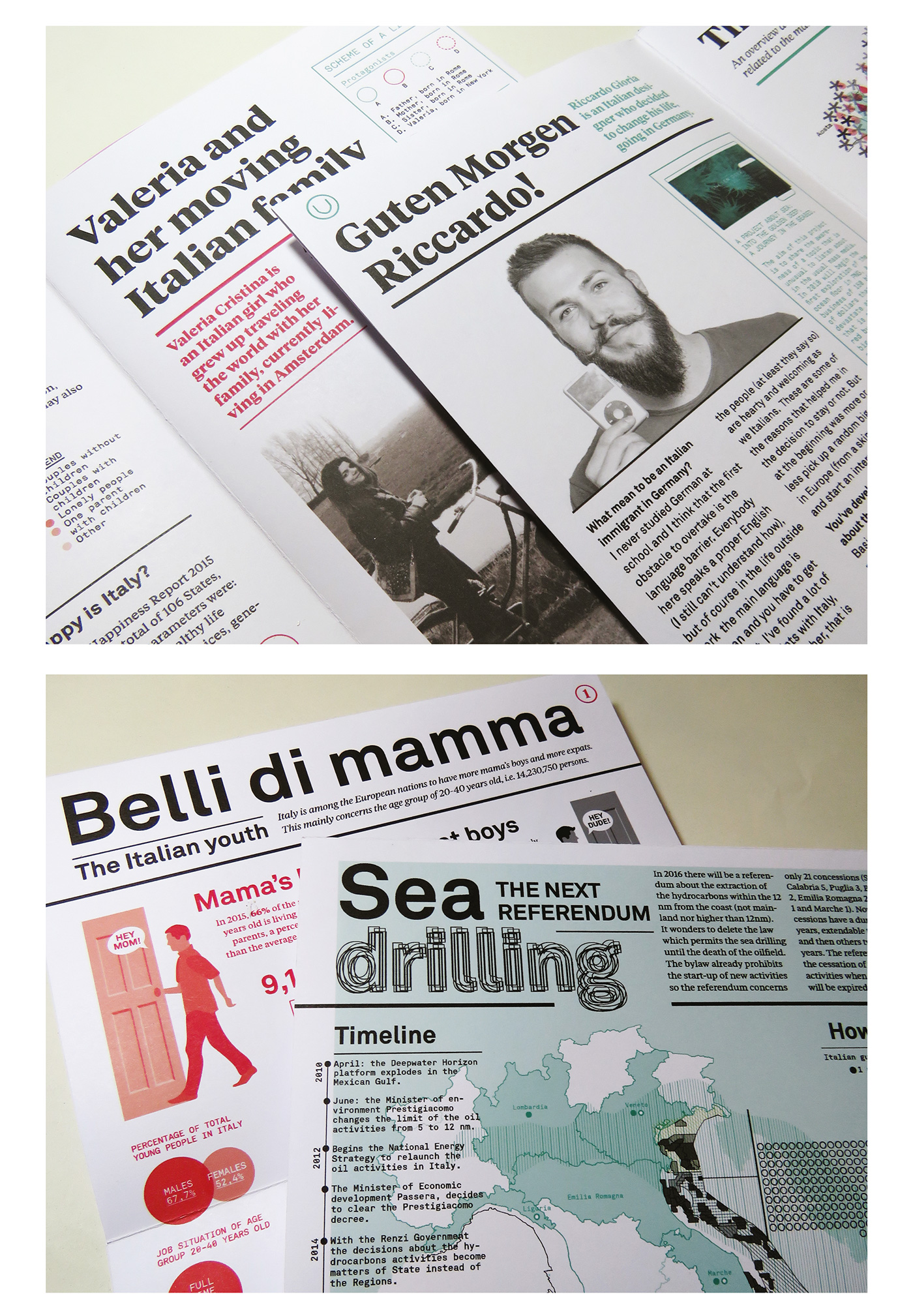 magazine folding graphic design  editorial dsegin ILLUSTRATION  information design thesis University distribution parassita