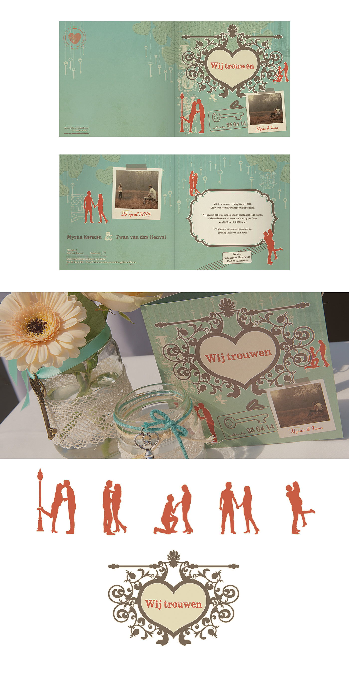 "Adobe Portfolio ""Graphic design"" + visual design wedding design Photography  bruiloft uitnodiging vector design aankleding feest drukwerk print"