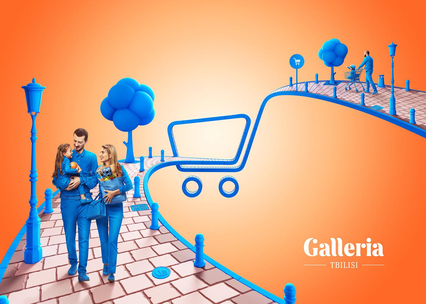Shopping Entertainment CGI ILLUSTRATION  Digital Art  people lifestyle graphic design  poster retouching
