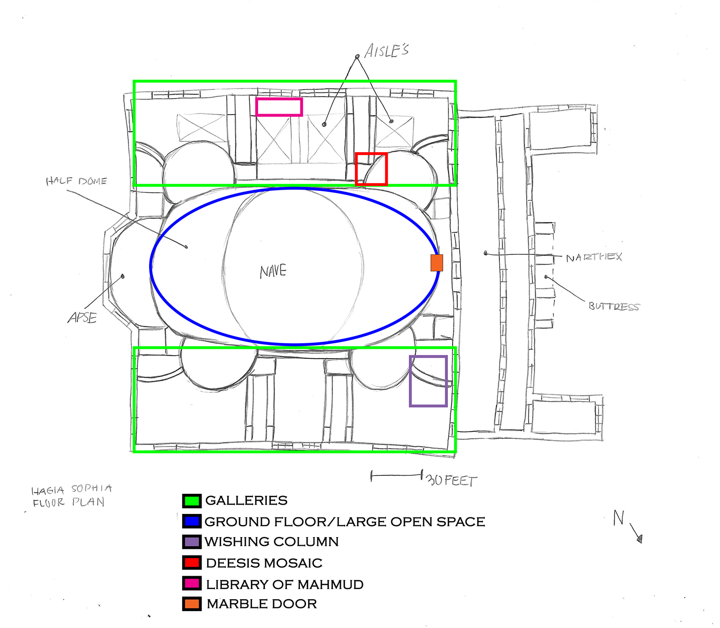 Hagia sophia research diagrams on behance for 1919 sophia floor plan