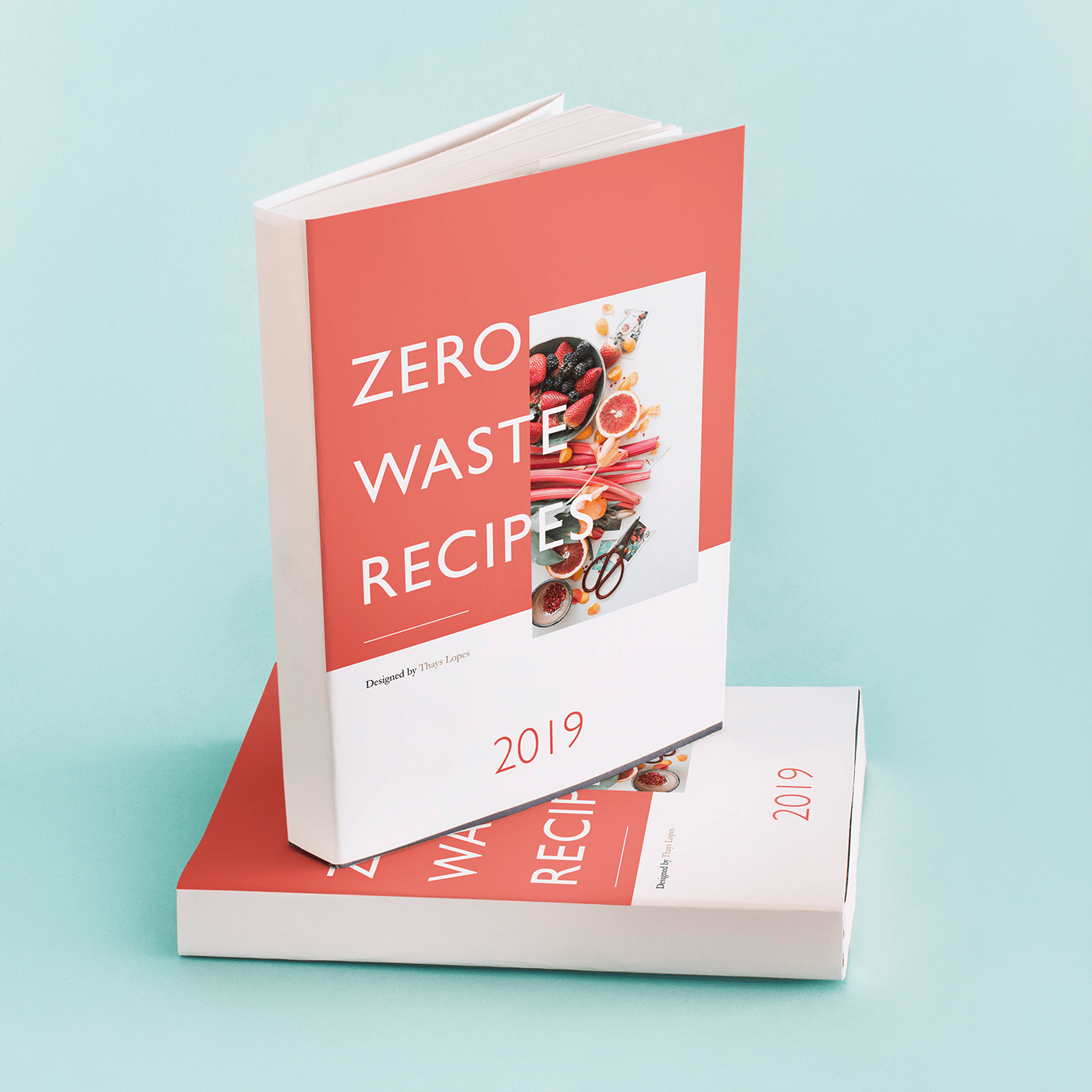 cookbook book recipes design graphic design  editorial publication Food waste waste environment