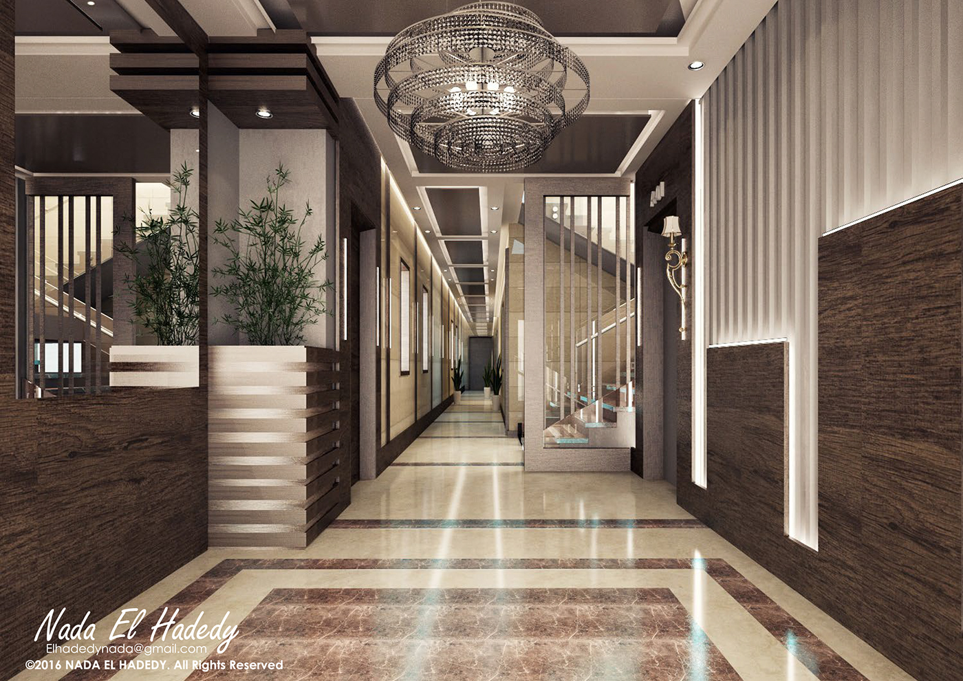 Residential building entrance on Behance