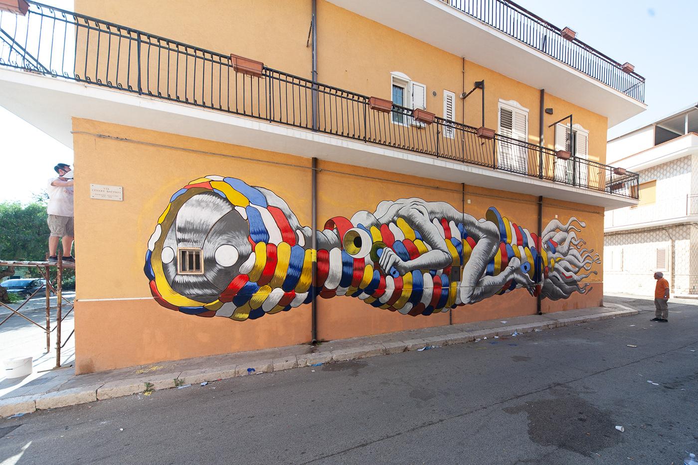 Image may contain: outdoor and graffiti