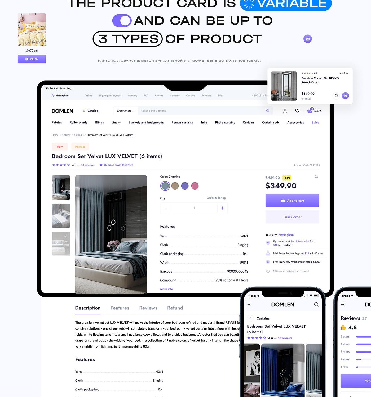 catalog Ecommerce fabrics interaction market service store finance business online store