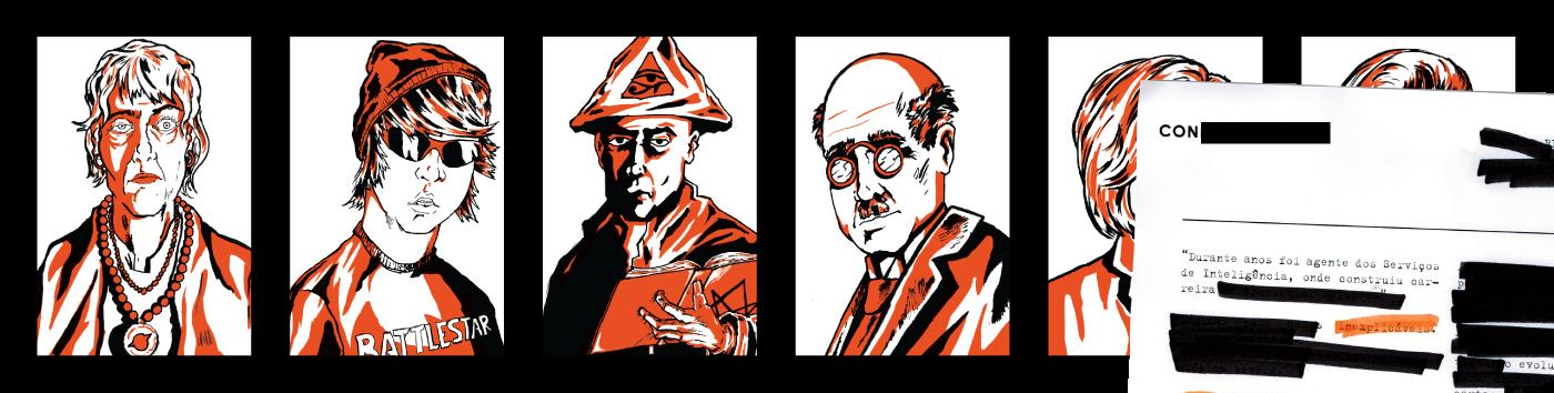 fnord! graphic design  espm Lúdico conspiracy theory illuminati aliens secret board game