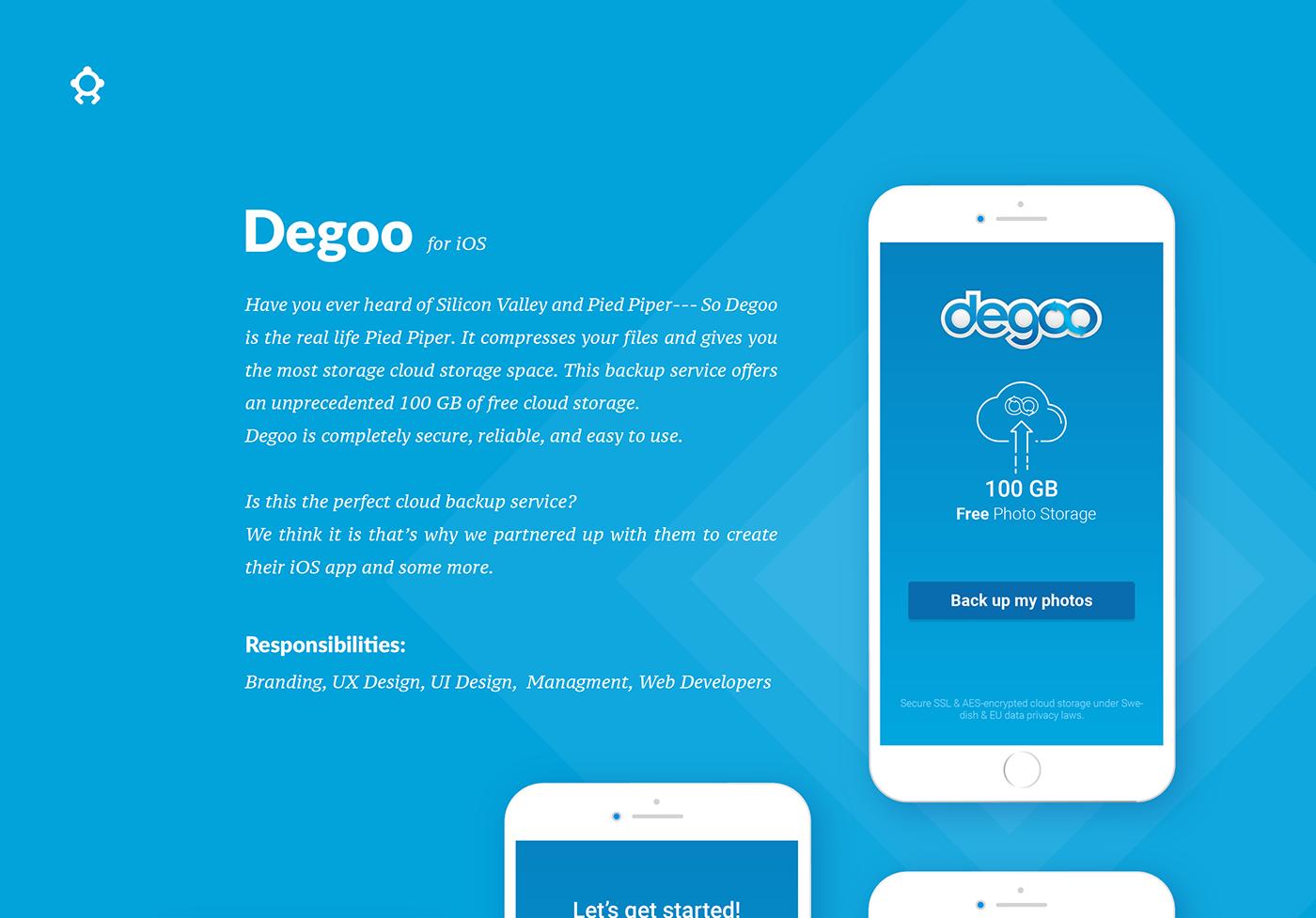 Degoo - Photo Storage iOS App on Behance