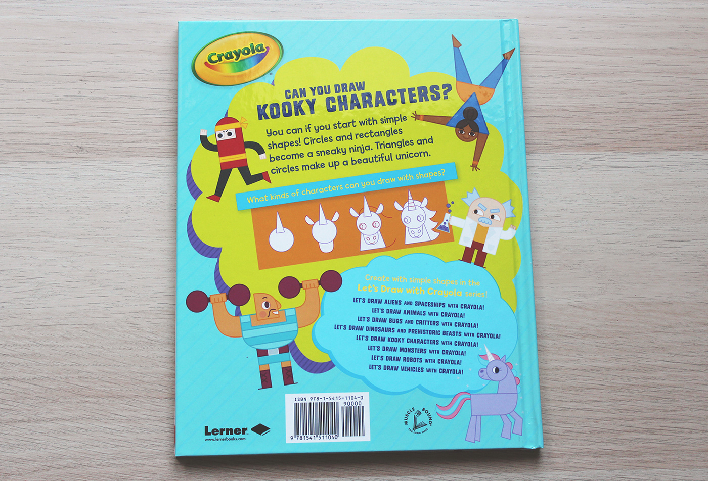 book Crayola characters Drawing  shapes witch unicorn editorial activity publishing