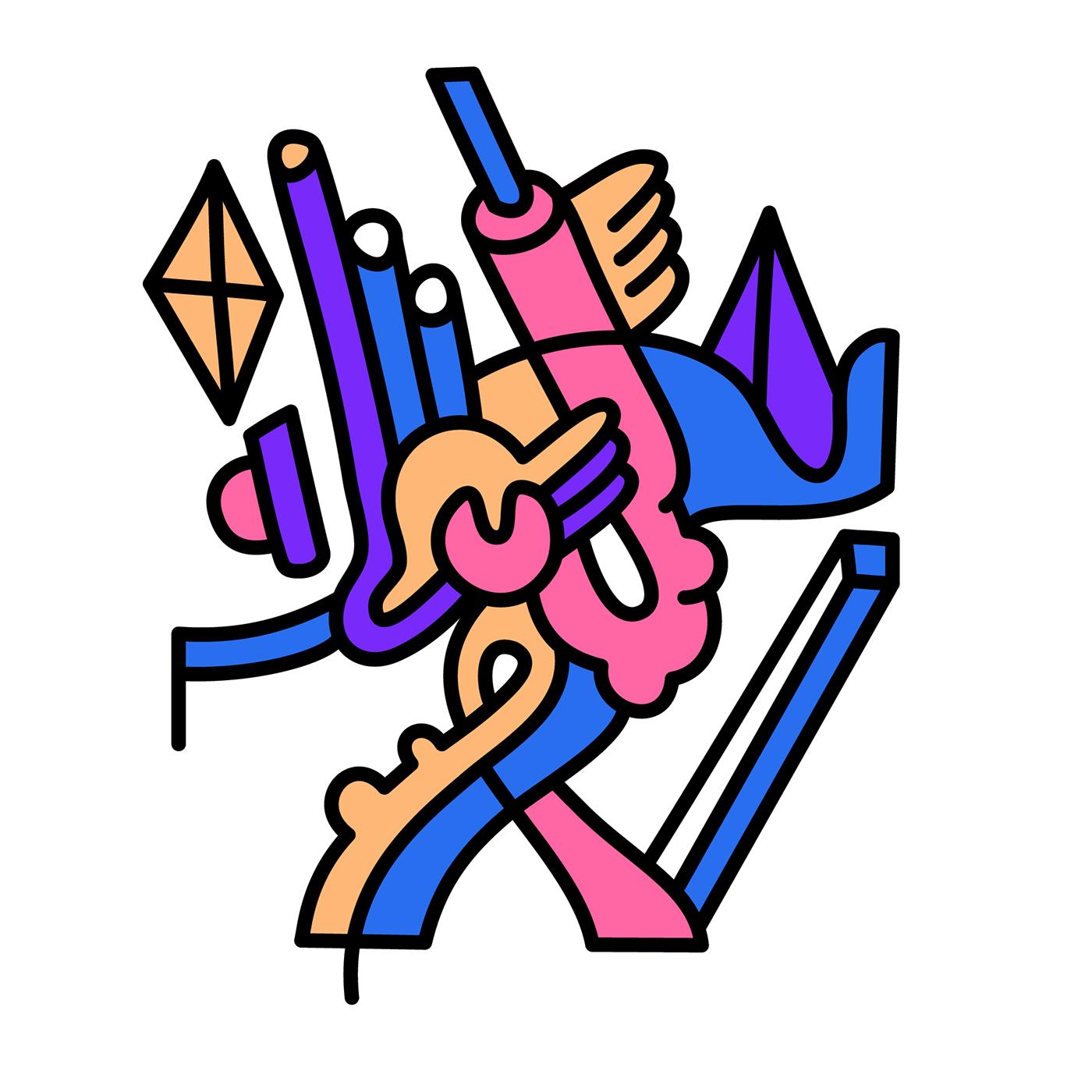 Image may contain: cartoon, drawing and abstract