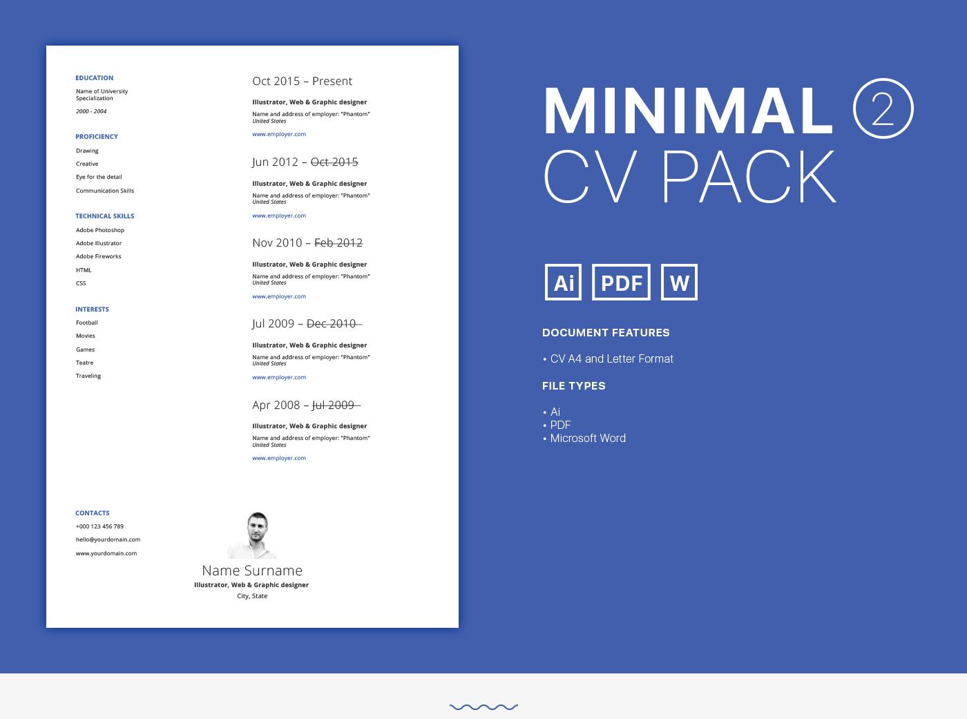 CV Resume business clean simple free freebie freeresume freesv job
