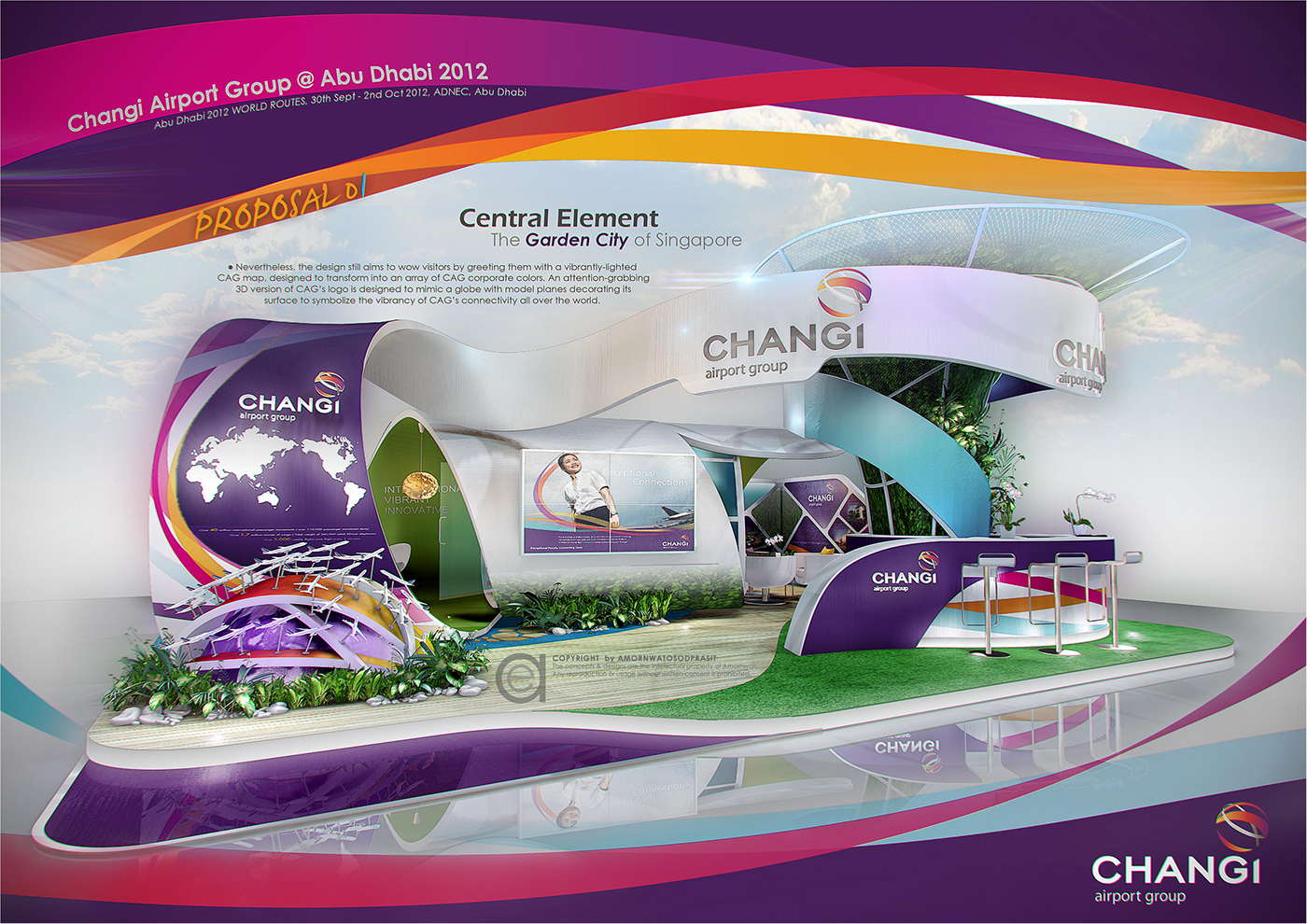 Exhibition Stand Design Singapore : Exhibition design special booth on behance