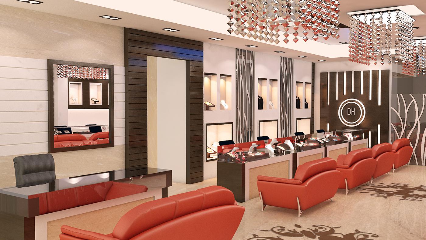 Jewellery Showroom Front Elevation : Jewelry showroom on behance