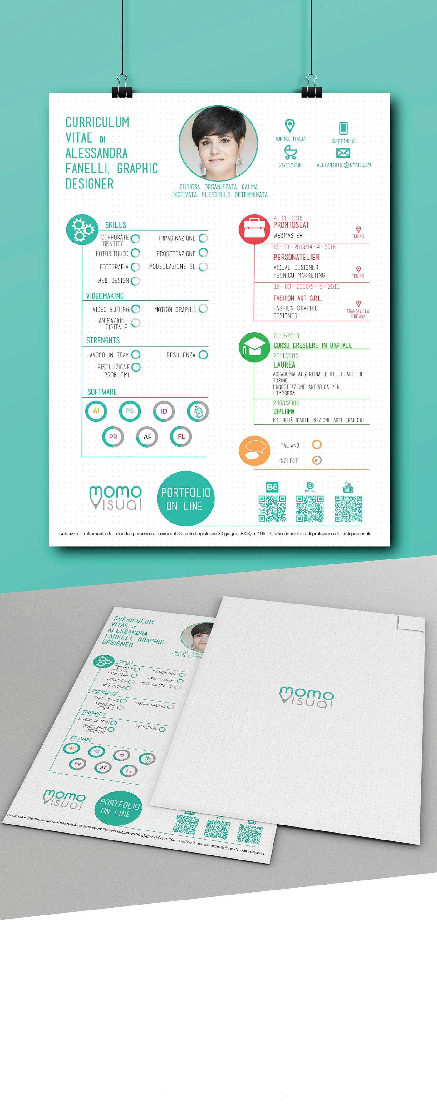 infografic cv on behance