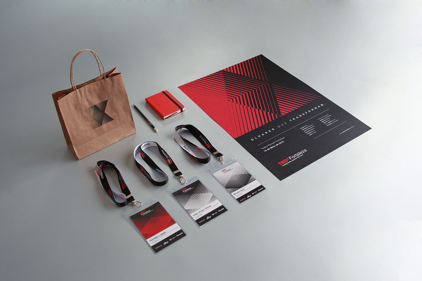 Branding work for TEDx Fortaleza