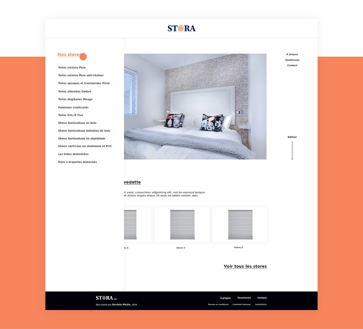 Website UI ux branding  design blue orange logo Business Cards