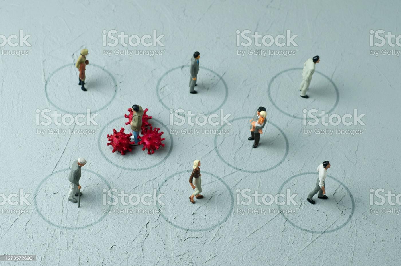 concepts Coronavirus COVID-19 epidemic fear figurine Health lockdown new normal people