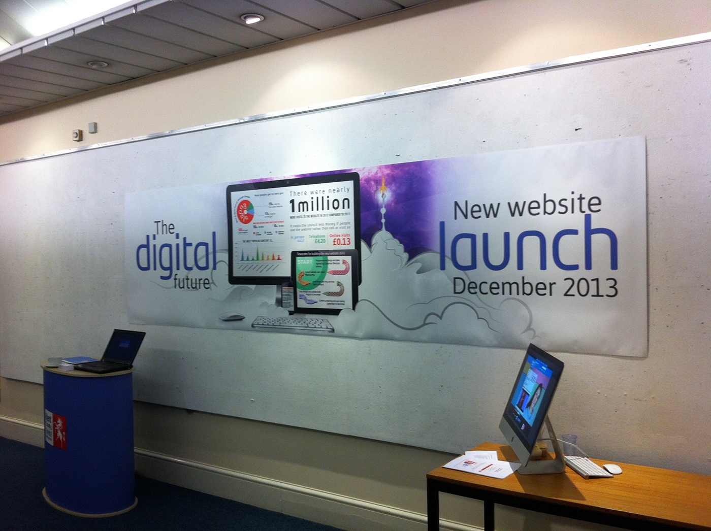 infographics Web digital launch