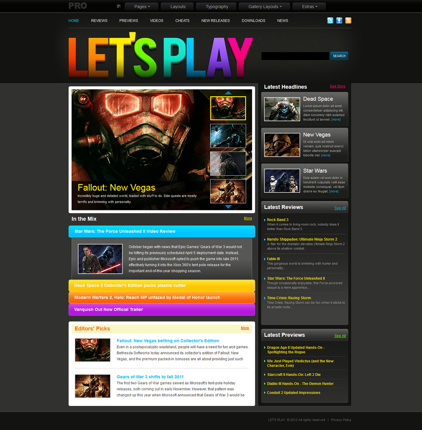 gaming templates on behance