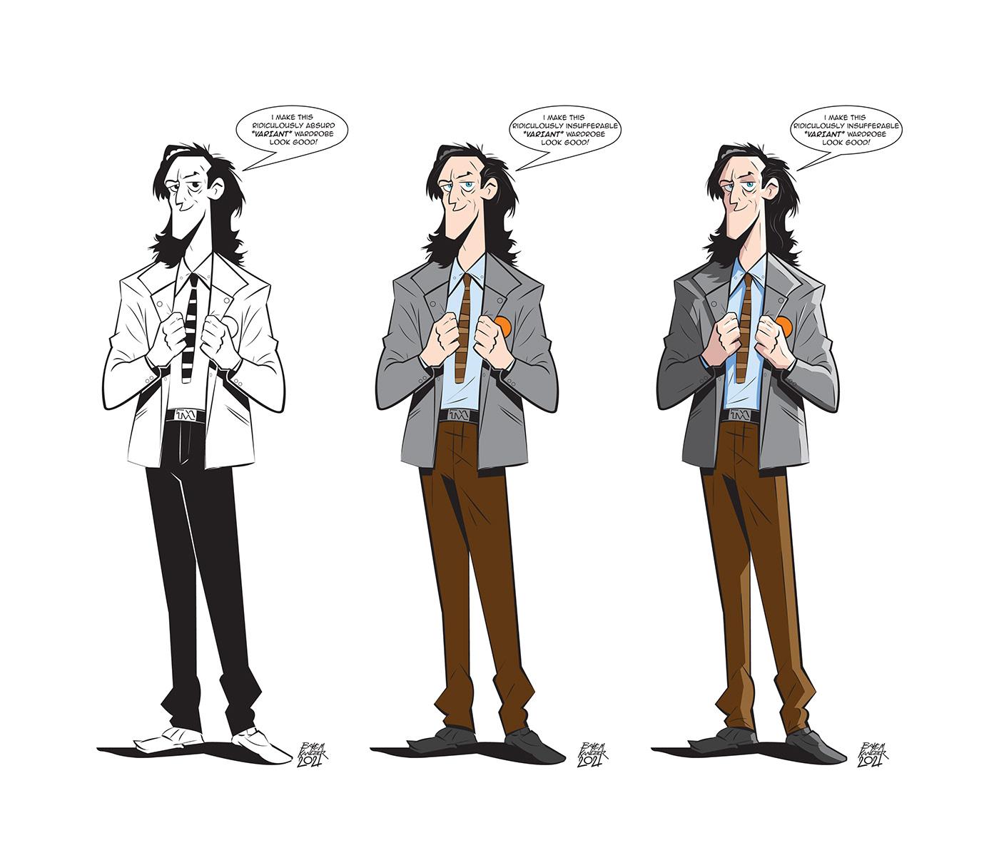 cartoon Character design  disney ILLUSTRATION  Loki marvel