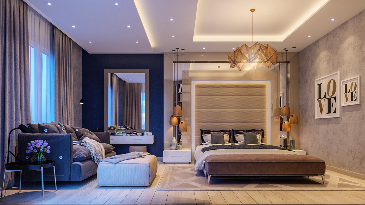 Modern Master Bedroom On Behance