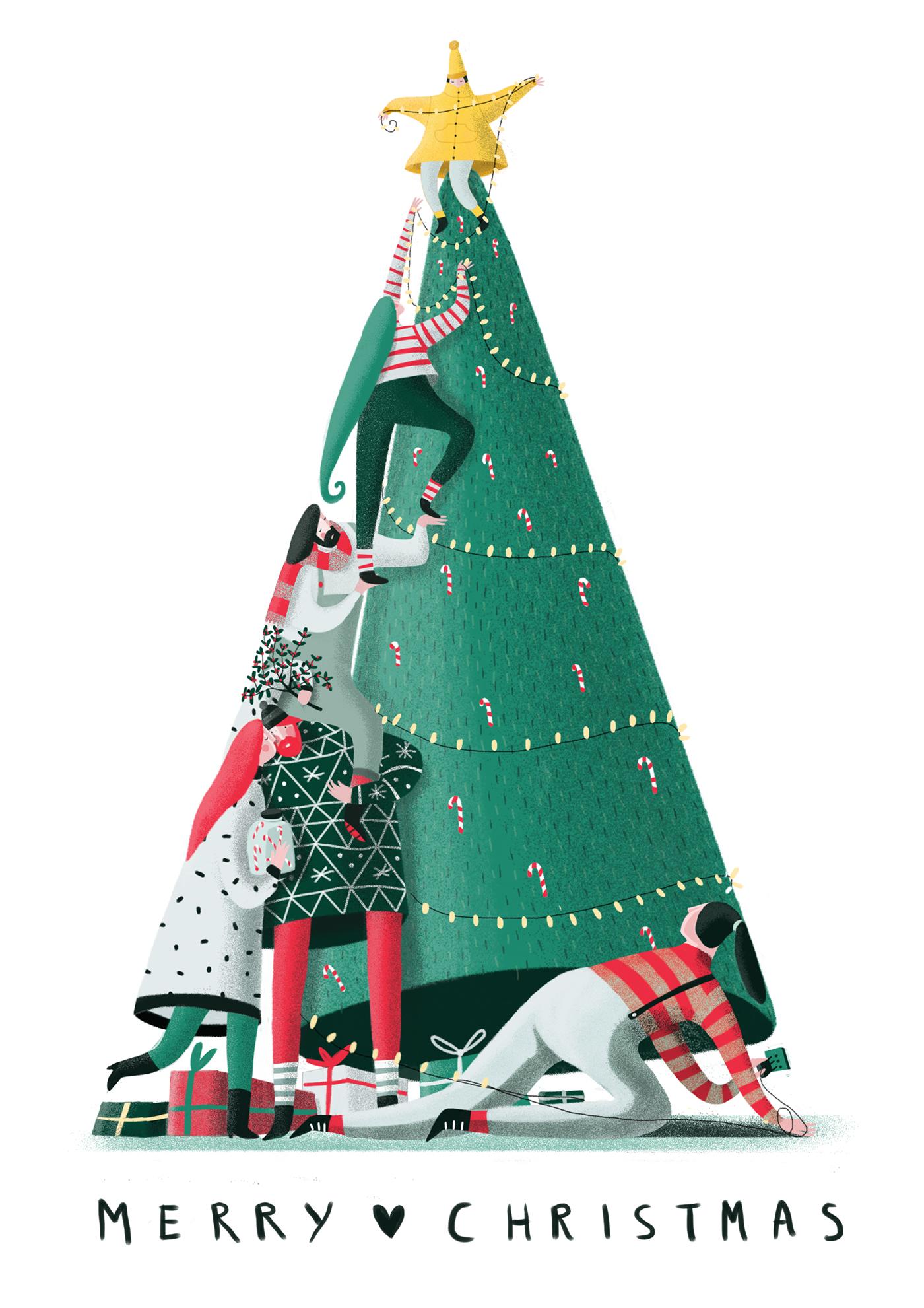 精品的19款聖誕節插圖欣賞