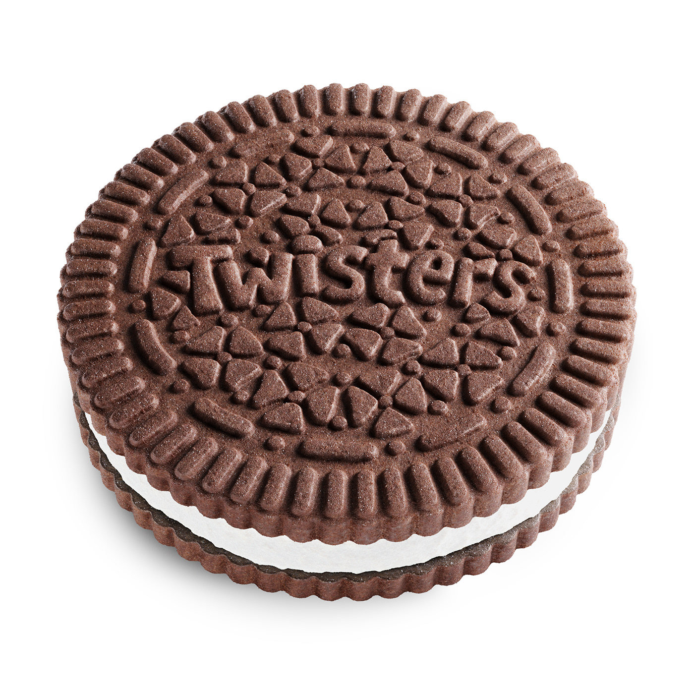 3D biscuit blender Candy CGI chocolate cookie oreo realistic Twister