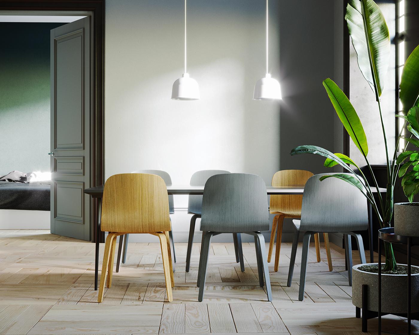 Greyscale Interior On Behance