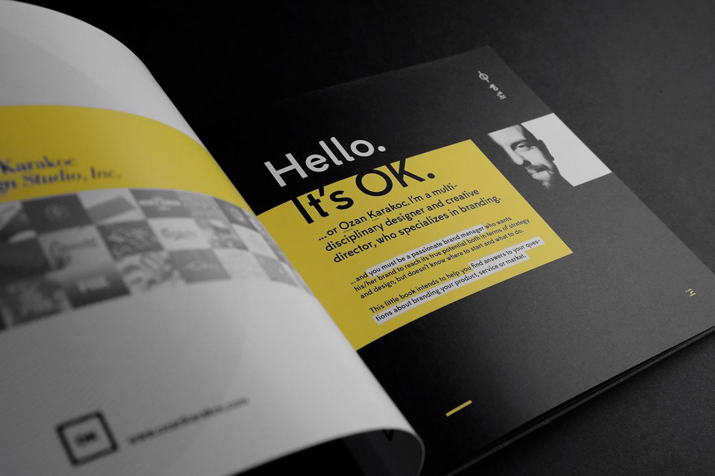 book Booklet Self Promotion branding  brand print portfolio Los Angeles logo Startup
