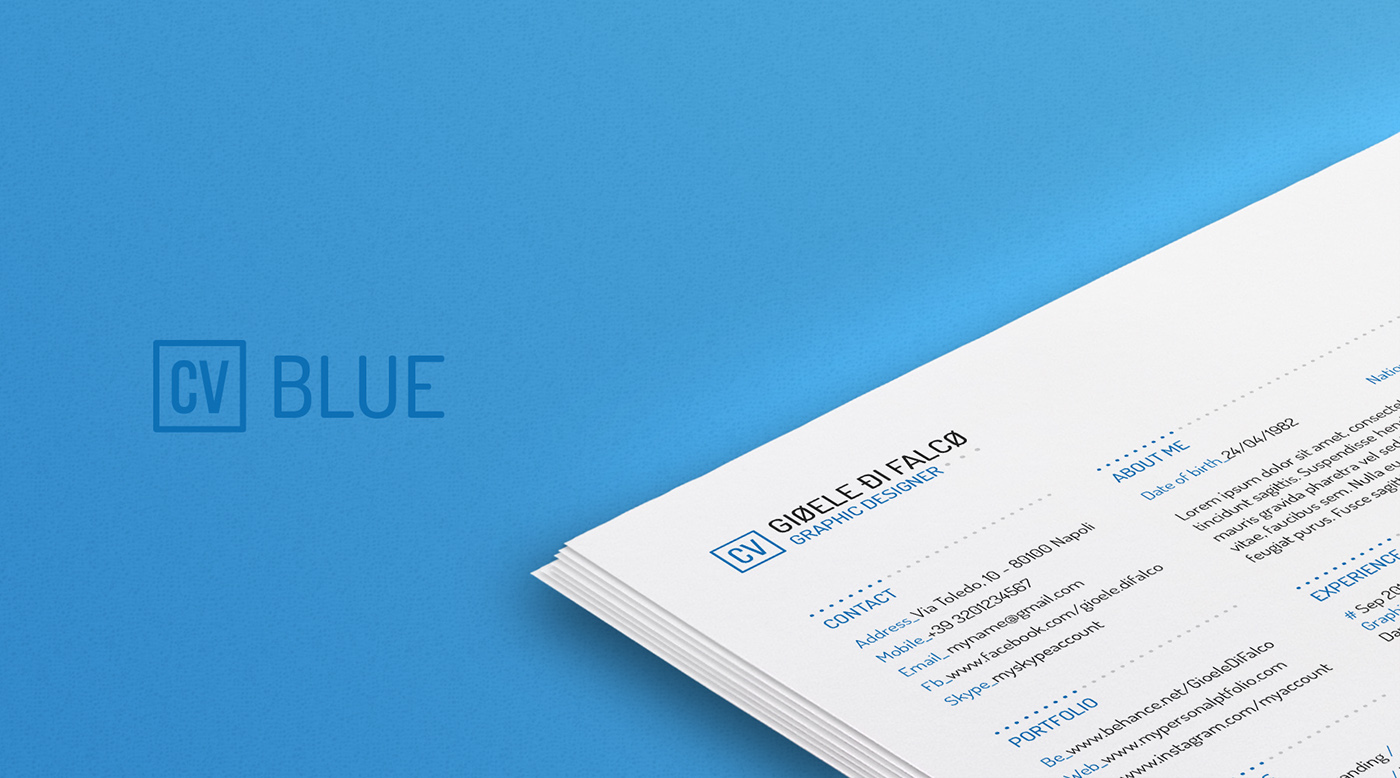 naples high school resume template free resume template on behance - Naples High School Resume Template